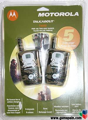 Vendo walkie talkie motorola t4502 camuflaje