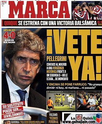 El diario MARCA anuncia que Valdano puede ser el sustituto de Pellegrini