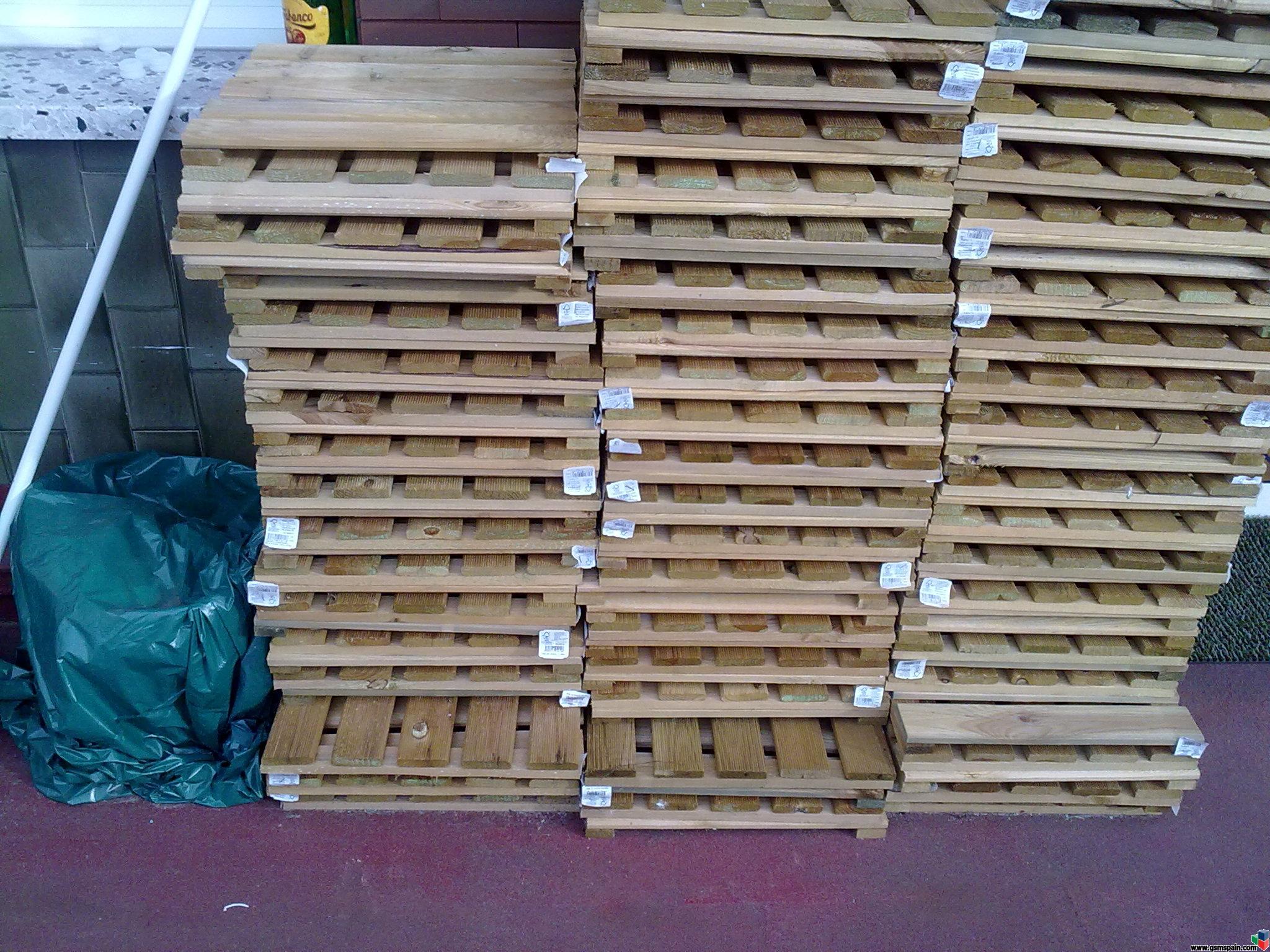 Baldosas de madera 40x40 para terraza y jardin desde 1 5 euros for Baldosas para terraza baratas