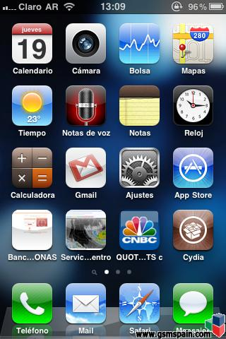 icono raro al lado de marcador de bateria en iphone 3gs 16 mb 4.0.1