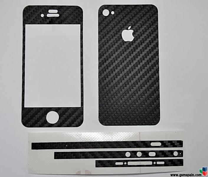 ------------Protector FIBRA DE CARBONO para IPHONE 4 --- Varios colores ------------