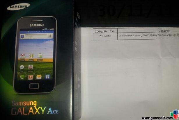 [VENDO] Samsung Galaxy ACE libre de fábrica y precintado + Accesorios