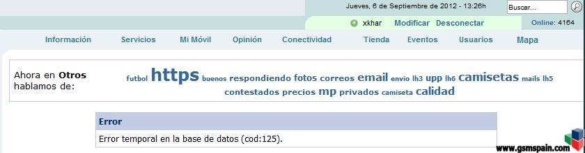 [AYUDA] Error temporal en la base de datos (cod:125).