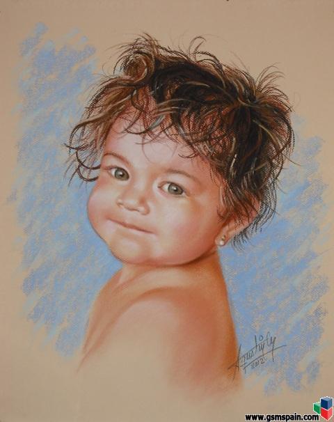 VENDO] Retratos en pastel, carboncillo, óleo. Logos, caricaturas ...
