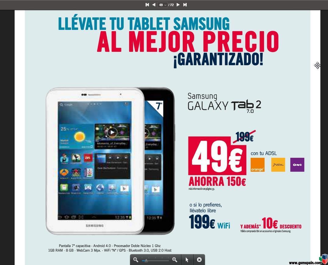 [CONSEJO] ThePhoneHouse: Samsung Galaxy Tab 2 por 49€, portando el ADSL a Jazztel...