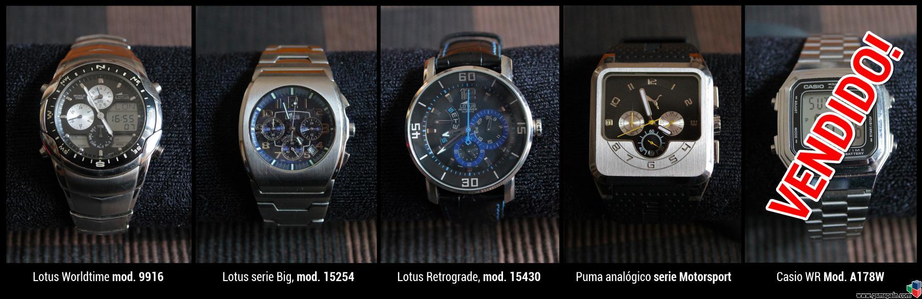 [VENDO] Relojes Lotus, Puma y Casio