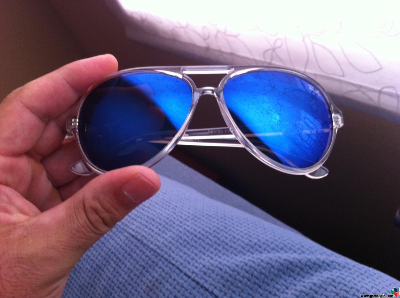 ray ban azules espejados