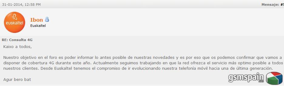 [NOTICIA] Euskaltel, el segundo OMV que ofrecerá 4G a sus clientes.