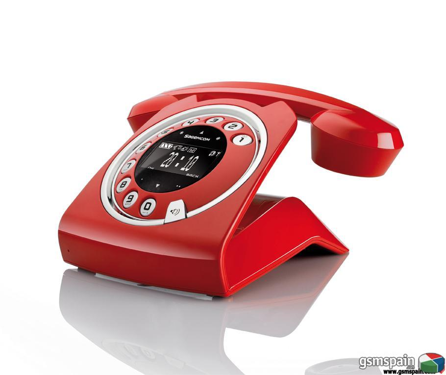 vendo telefono sagemcom sixty nuevo color rojo vintage. Black Bedroom Furniture Sets. Home Design Ideas