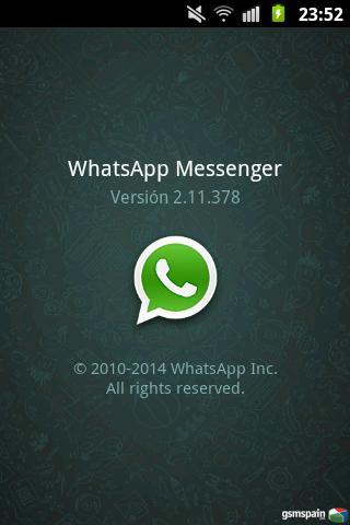 Cosa rara con el whatsapp del Play Store