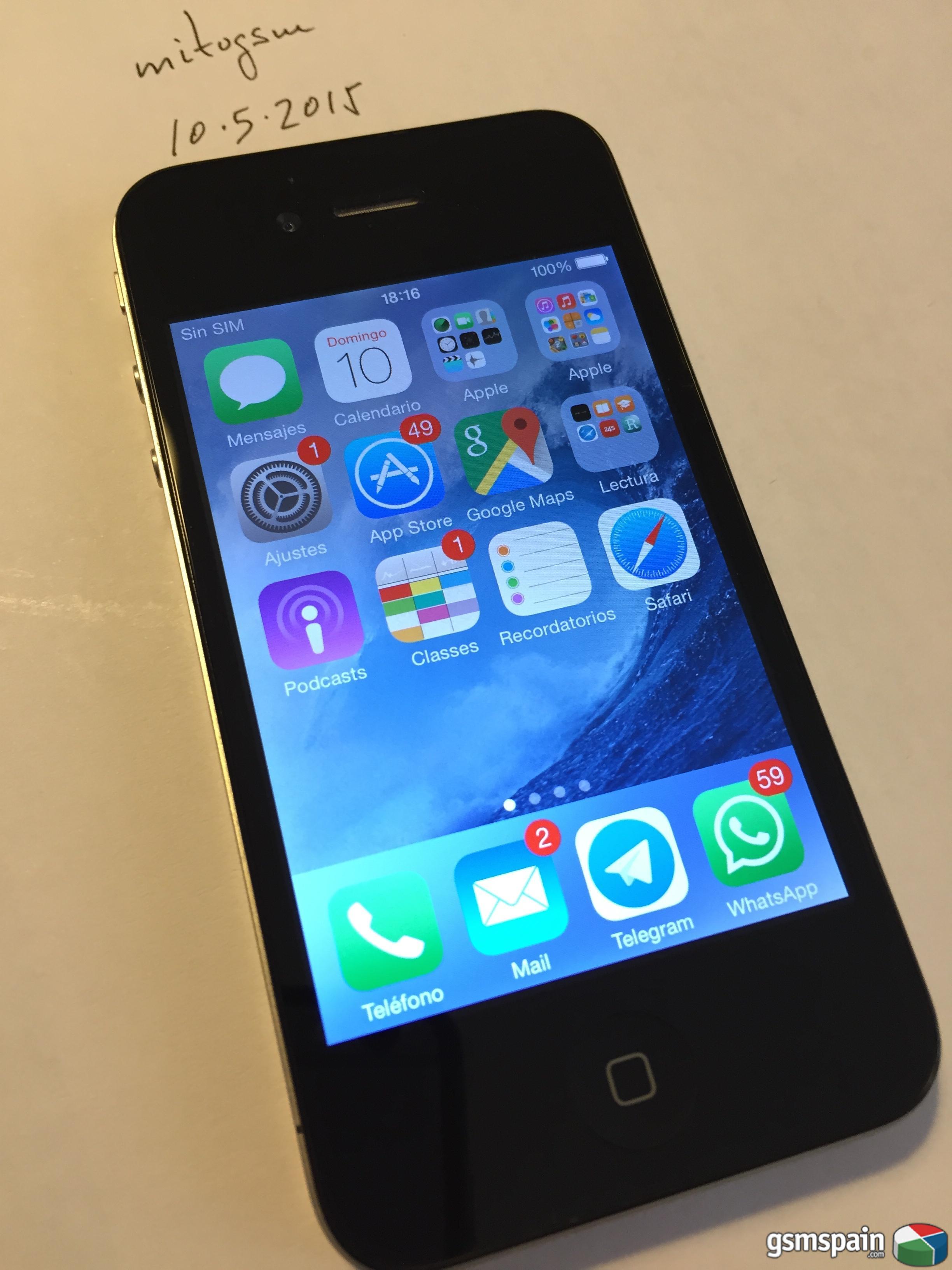 [VENDO] iPhone 4 16Gb negro libre + pack