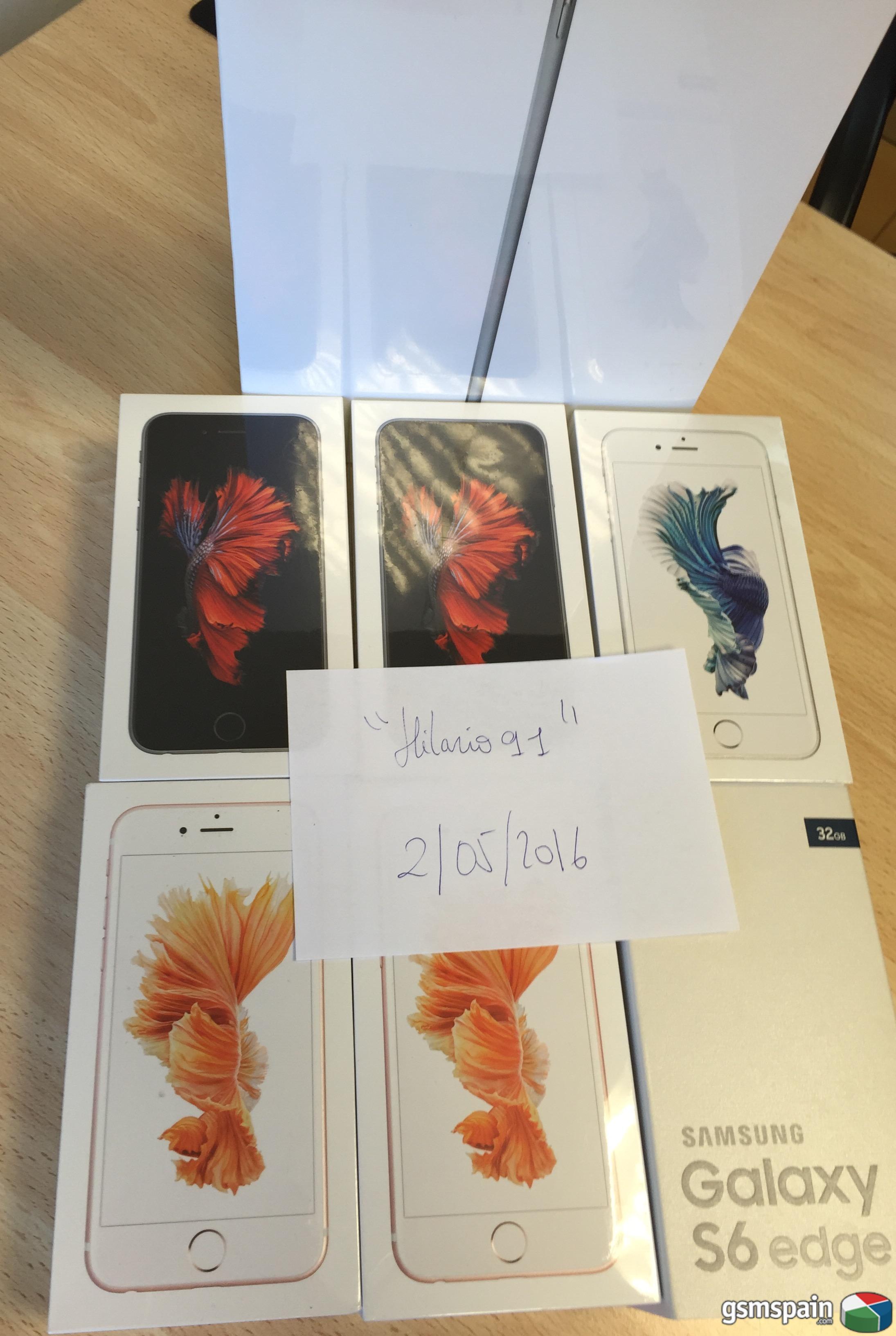[VENDO] LOS MÁS BARATOS DEL FORO***iPhone 6S 64Gb, iPad Air 2, Samsung Galaxy S6 Edge***