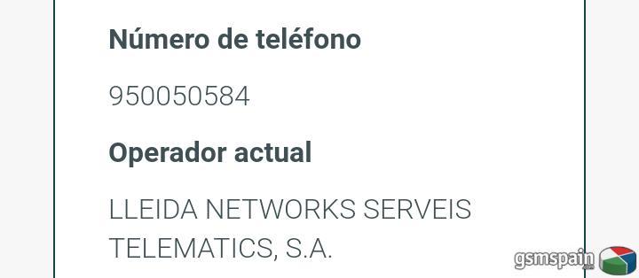SMS 950050584 Verificación de SIM de Google