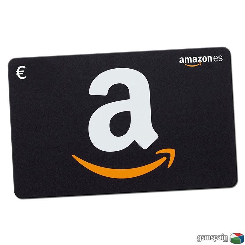 [vendo] Cheques Amazon 50 Euros Con Descuento Del 20% Sobre La Recarga