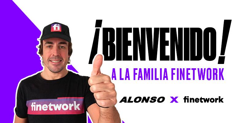 Finetwork patrocinará a Fernando Alonso durante este año 2021