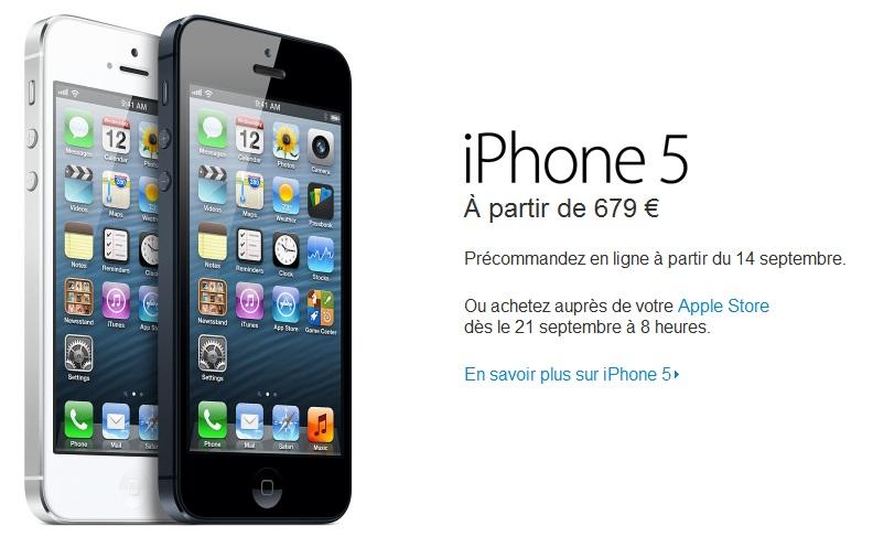 iPhone 5, precios oficiales para Europa